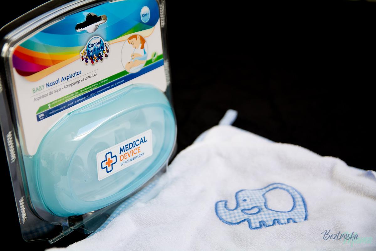 Pielęgnacja niemowlaka – test ręcznika i aspiratora do nosa od Canpol Babies